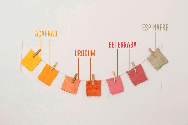 Tecidos com corantes naturais para as capas da Caderneto