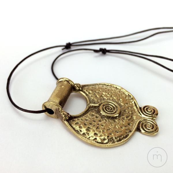 Fairtrade Nepalese 3 Spirals / Elements / Trinity Brass Pendant