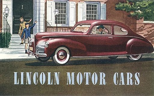 1940 Lincoln Motor Cars Ford Motor Company Ads