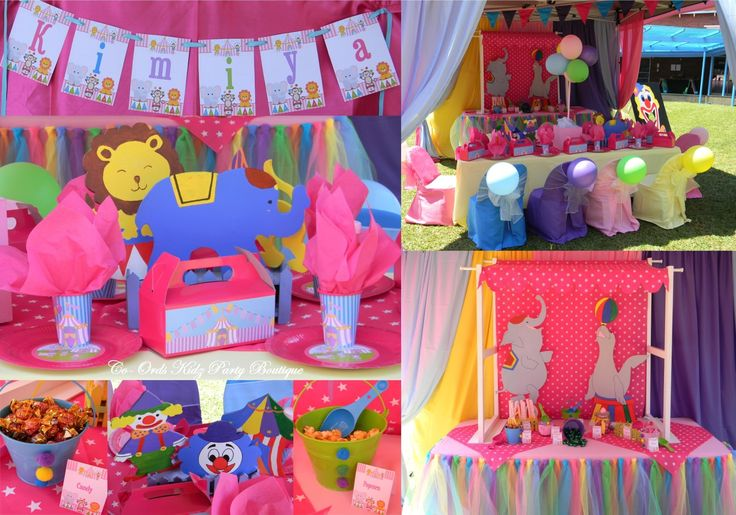 Girly Carnival Circus party by Co-Ords Kidz Party