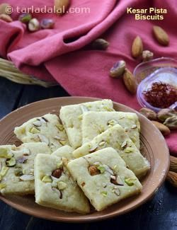Once you try these delicately flavoured saffron biscuits, you will make them again and again.