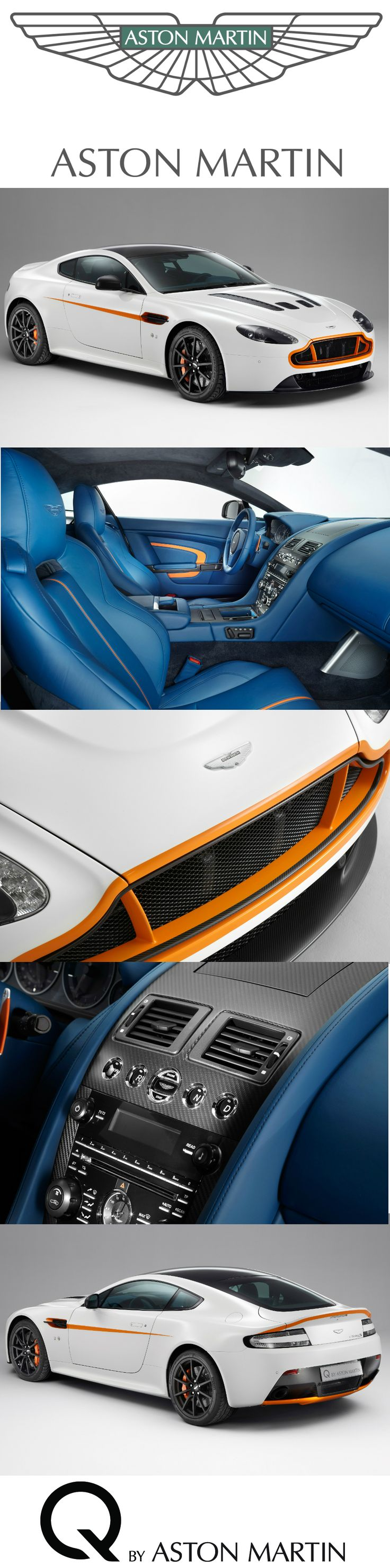 A Q by Aston Martin V12 Vantage S shown at the 84th Geneva International Motor Show. Discover more about Q by Aston Martin at http://www.astonmartin.com/colour-and-trim/q-by-aston-martin #AstonMartin