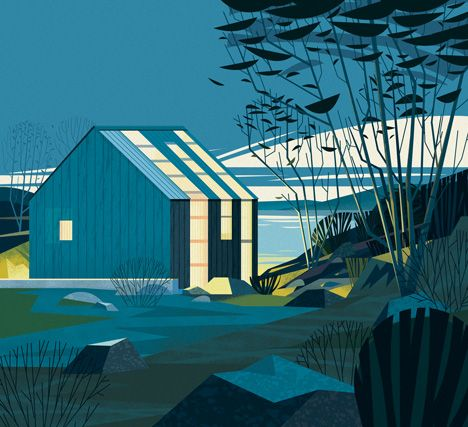 TYIN - Boathouse - Illustrations by Marie-Laure Cruschi for a Taschen book