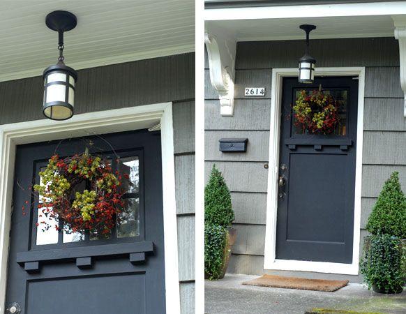 Best 25 craftsman front doors ideas on pinterest entry doors front doors and craftsman style - Black craftsman front door ...