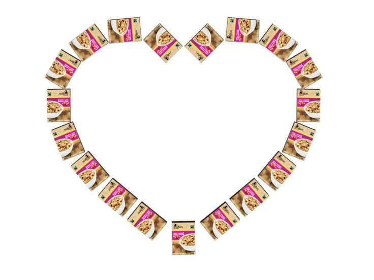 will you be my #valentine? / veux-tu être ma Valentine?  #Fairtrade #Granola #cereal #Love #Amour