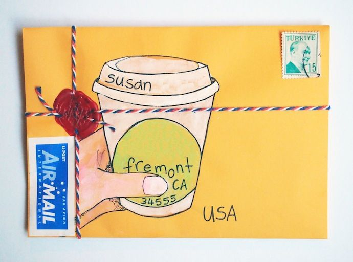 Coffee + mail = a match made in heaven