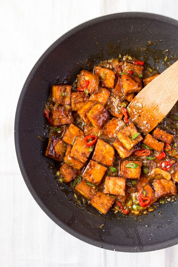 Vegan black pepper tofu - Lazy Cat Kitchen