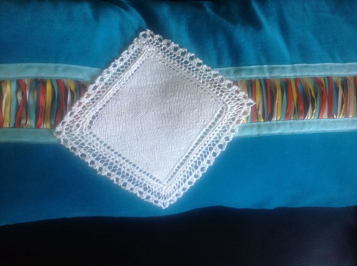Knitted silk hankerchief...... 5x5 inch. Pattern from Ravelry. http://www.ravelry.com/patterns/library/silver-queen-handkerchief