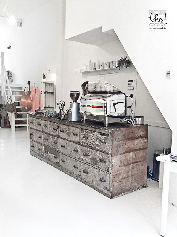 ★ L' Etoile | Amsterdam Cottoncake coffee shop Bar with Amazing desk Display White style