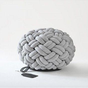 Knotty gevlochten poef Kumeko - X6lifestyle