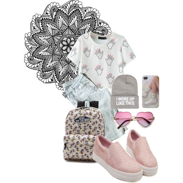 ulzzang by kemnasom on Polyvore featuring мода, 7 For All Mankind, Vans and NLY Accessories