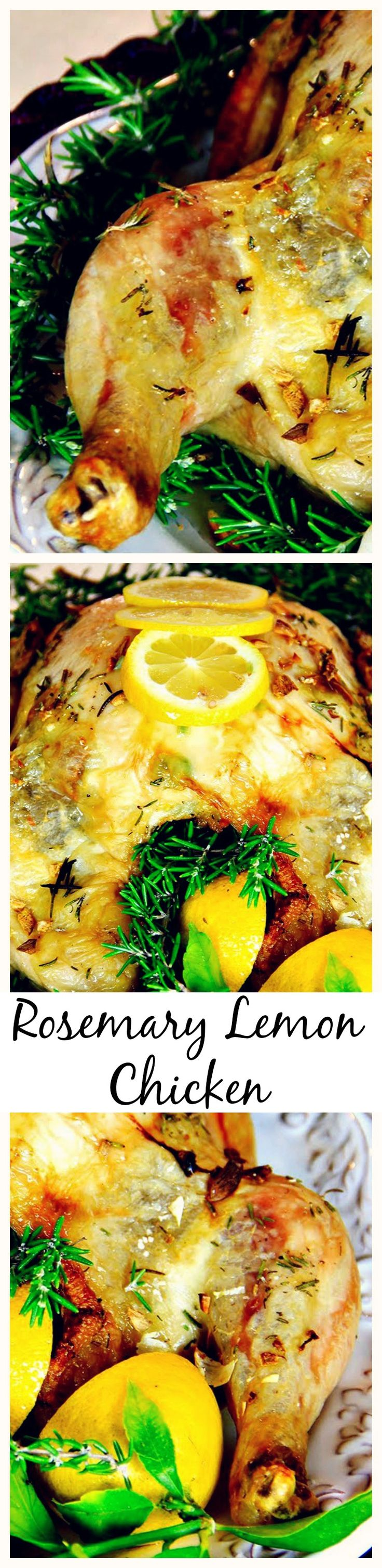 Roasted Garlic #Lemon #Rosemary #Chicken is great for any nights and also beautiful for company!