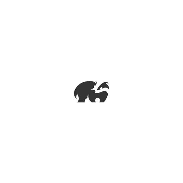 Delightful Animal Logos Cleverly Created With Negative Space - DesignTAXI.com
