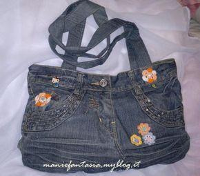 riciclo,creativo,come,trasformare,riutilizzare,vecchi,jeans,borse