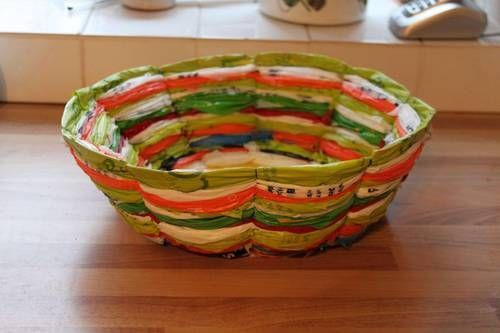 Recycled Plastic Bag Fruit Bowl + Tutorial (Long awaited) - HOME SWEET HOME