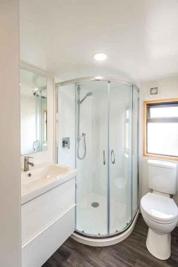 60 Genius Tiny House Bathroom Shower Design Ideas Insidexterior In 2020 Tiny House Bathroom Bathroom Shower Design House Bathroom