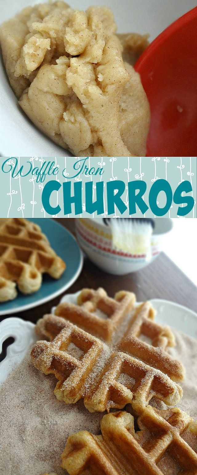 The Cooking Actress: Waffle Iron Churros. This recipe makes crisp and delicious churros in a waffle iron!