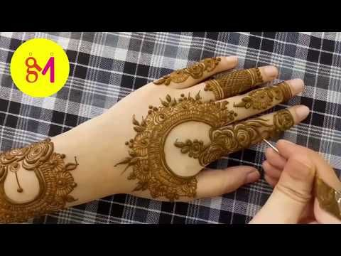 Latest Gulf Dubai Style Mehndi Design 2018