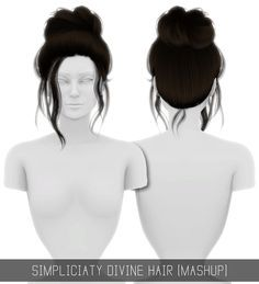 Sims 4 CC's - The Best: DIVINE HAIR (MASHUP) by simpliciaty