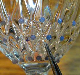 Swarovski wine glasses