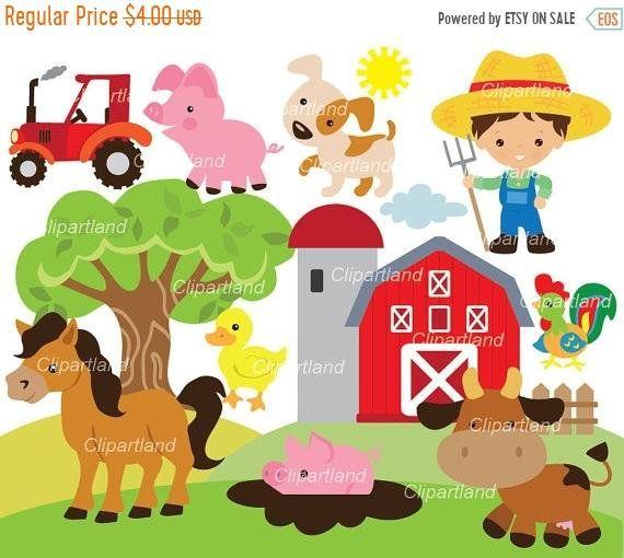Instant Download Farm Animals Clip Art Cf 65 Farm Etsy Clip Art Craft Show Ideas Etsy Banner