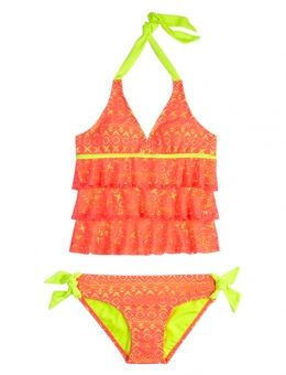 Crochet Tankini Swimsuit...... You can get these at justice! I have one and I love it!