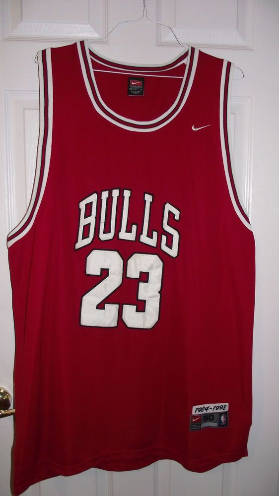 Michael Jordan Chicago BULLS NBA Basketball Jersey size 50 Nike Team Embroidered #Nike #ChicagoBulls