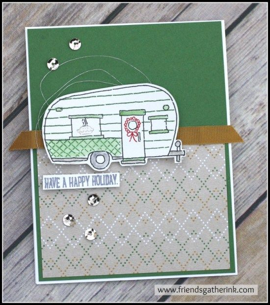 Handmade Christmas Card using Glamper Greetings by Stampin' Up!