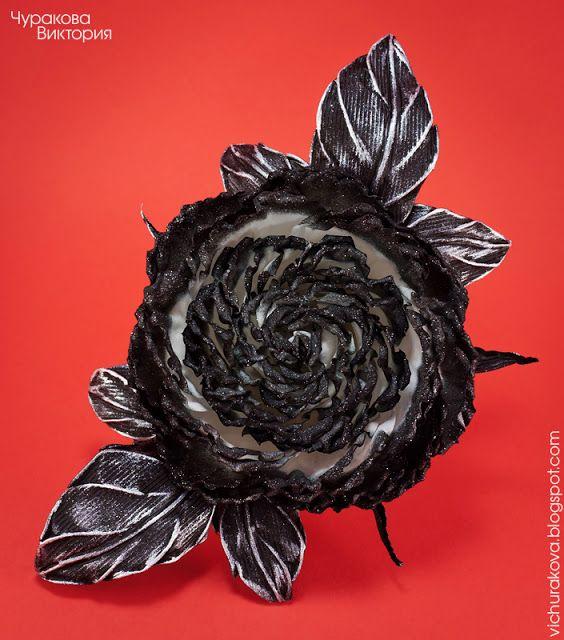 Брошь ручной работы с черно-белой розой из ткани. Купить брошь с цветком ручной работы в Киеве, Украина. Ручная работа, ручна робота, handmade. Черно-белая роза, черно-белый цветок, черно-белое украшение. Роза, троянда. Цветы из ткани, квіти з тканини. Брошь, брошка, брошь-цветок. Украшение для девушки. Прикраса ручної роботи. Київ, Україна. #vichurakova Виктория Чуракова