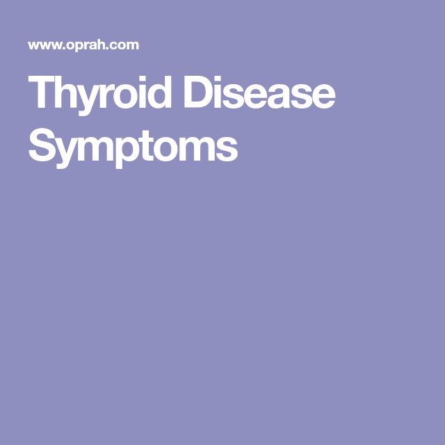 Thyroid Disease Symptoms