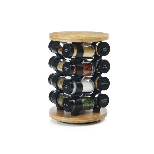 Maxwell & Williams Spice It Up 17 Piece Bamboo Spice Carousel Set   Salt, Pepper & Spices - House