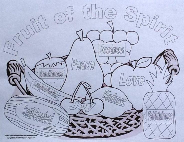 Childrens Church Printables Fruit Of The Spirit