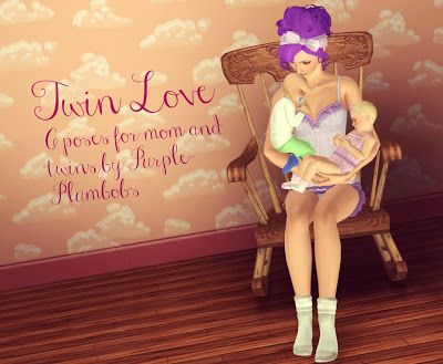 My Sims 3 Blog: Twin Love Poses by Purpleplumbobs needs resizer