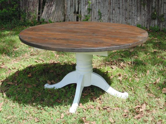 Reclaimed Wood Round Farmhouse Table By WonderlandWoodworks
