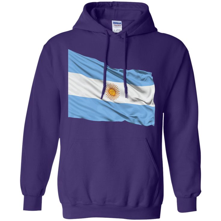 argentina flag 1-01 Pullover Hoodie 8 oz
