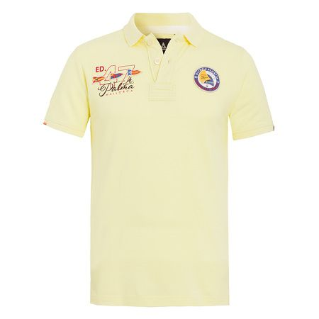 Polo Shirt Princesa Sofia Men - Sporty polo shirt made of premium-quality cotton for the current Princesa Sofia Regatta 2016 in Mallorca. Bright colours and intricate embellishments with patches, prints and embroideries give this event polo shirt its exclusive regatta appearance.