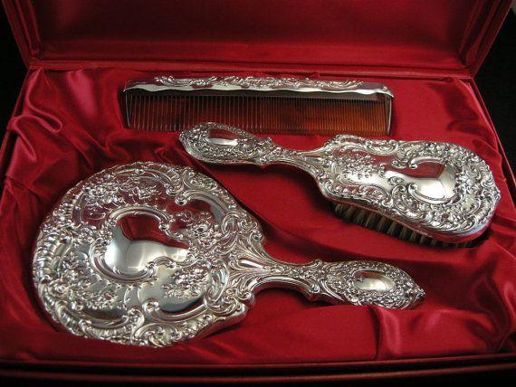 Gorham Sterling Silver Vanity Dresser Set Buttercup 23