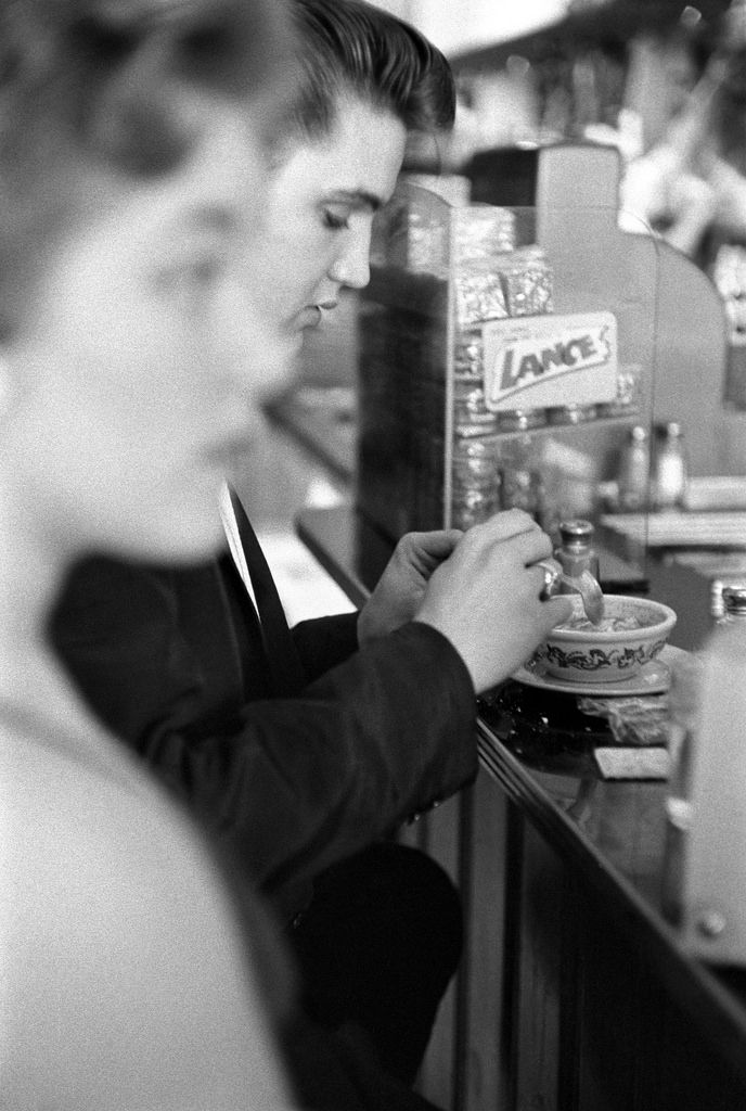 Elvis In The Coffee Shop Of The Jefferson Hotel by Alfred Wertheimer  1956