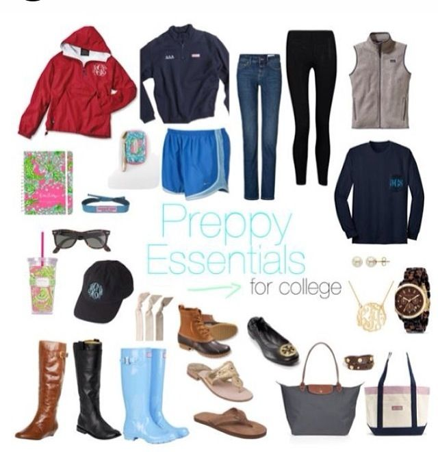 Preppy Essentials for College.