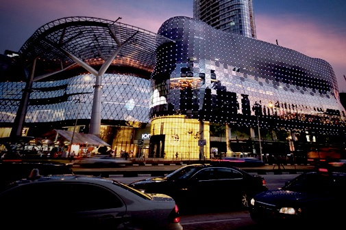 ION Orchard shopping in Singapore.