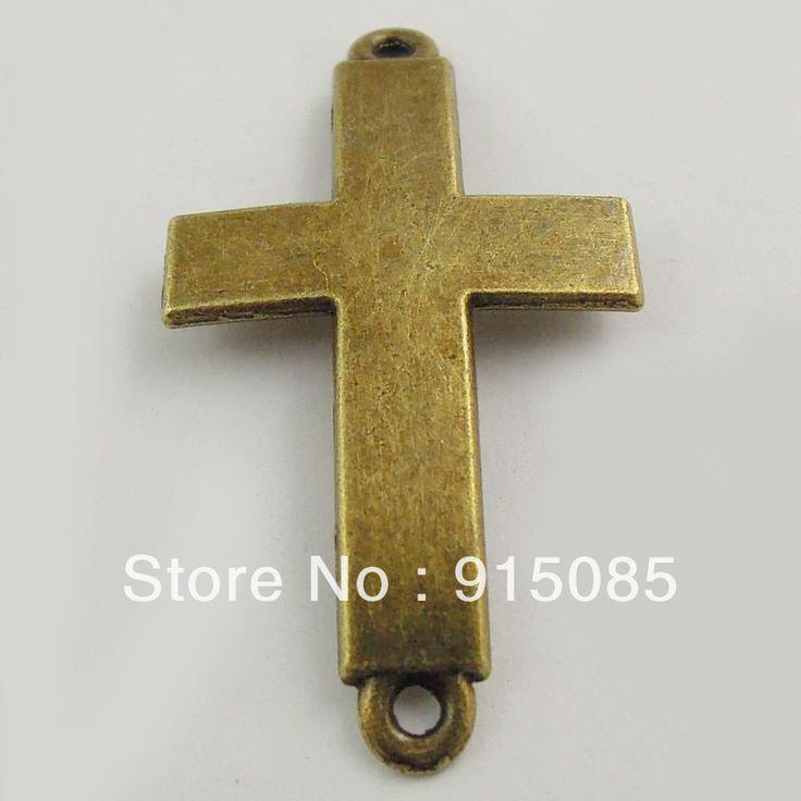 25 ШТ. Античная Бронза Образец Святой Крест Кулон Разъем Ювелирные Изделия Поиск 37517