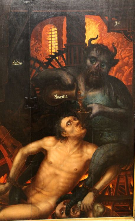 Jean Bellegambe - Triptych of the Last Judgement, Detail. 1520 - 1525