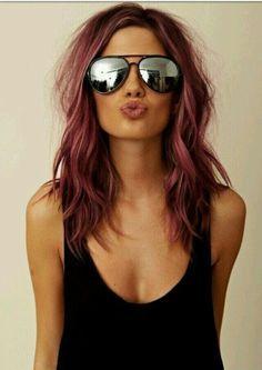 Light burgundy hair. Love it!!!
