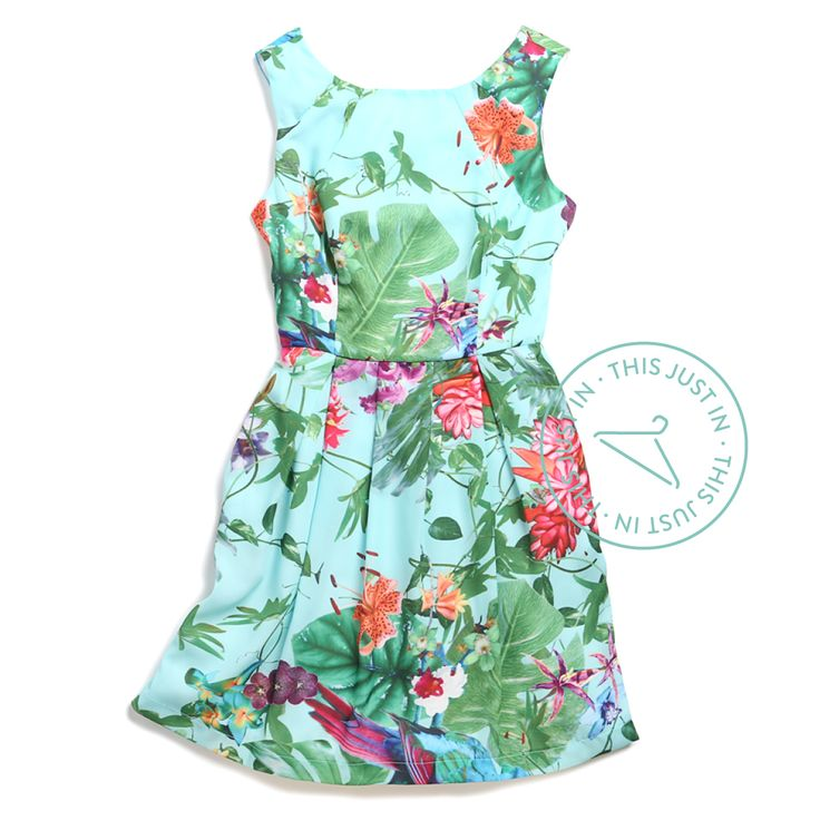 Can't get away? Bring the tropics to you with this adventurous fit & flare.  #staycation (Indira Dress) I need this dress, Justin!!