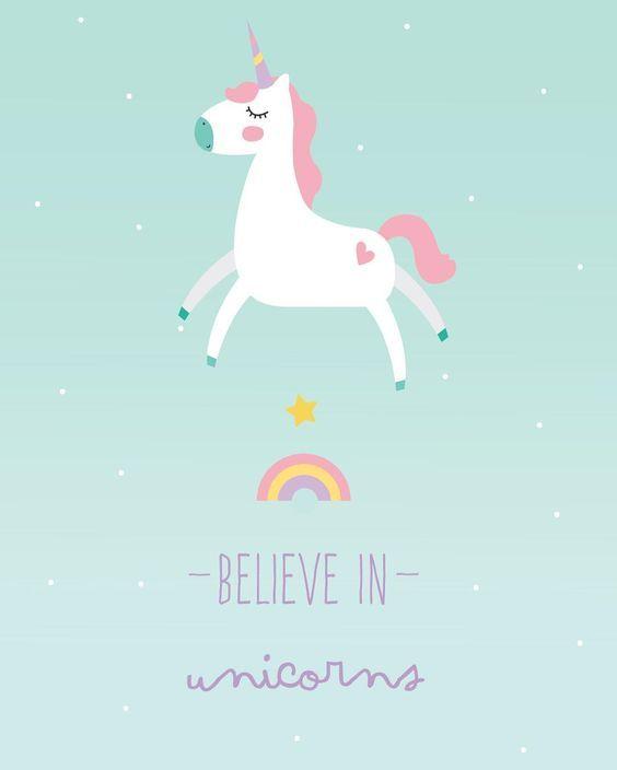 "204 Gostos, 1 Comentários - Littlecloud (@littlecloudpt) no Instagram: ""New print almost out  ilustração 30x40 believe in unicorns  Lovely colours  wall deco """
