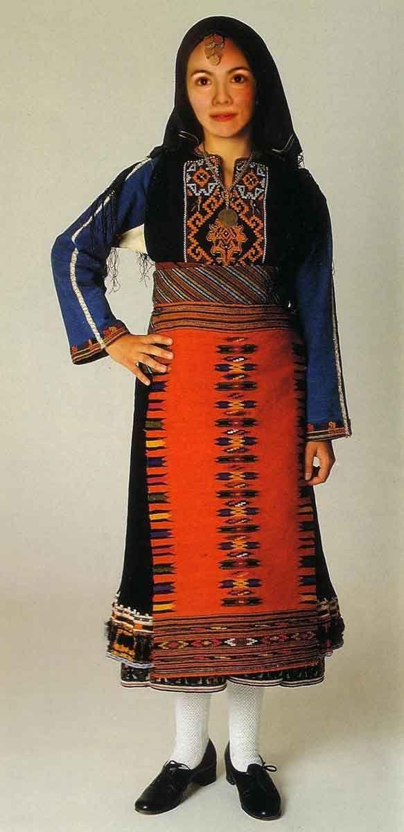 Καθημερινή φορεσιά Καβακλί Αν.Θράκης / Daily costume Kavakli, Eastern Rumelia, Thrace