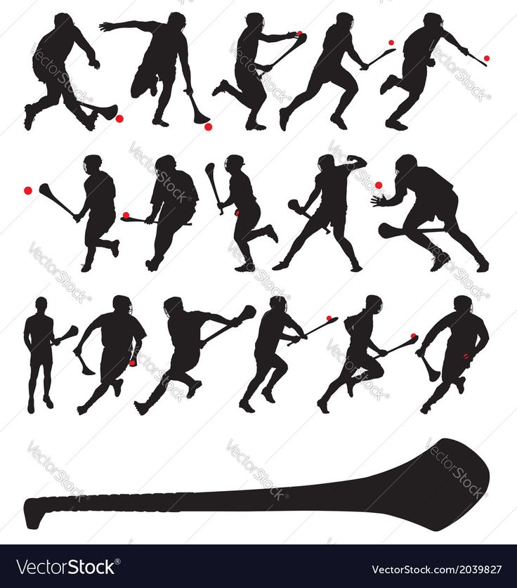 Irish hurlers Vector Image by rheyes
