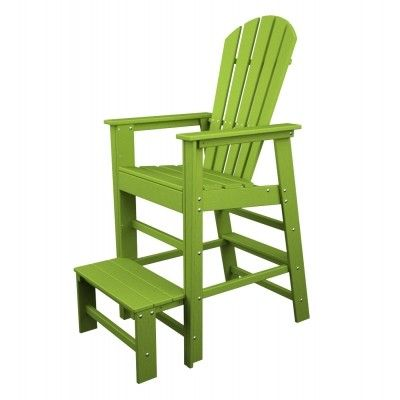 POLYWOOD® South Beach Lifeguard Chair #adirondack #chair #armchair #outdoor #patio #furniture #patiochair http://www.acepatiofurniture.com/poly-wood-recycled-plastic-south-beach-lifeguard-chair.html