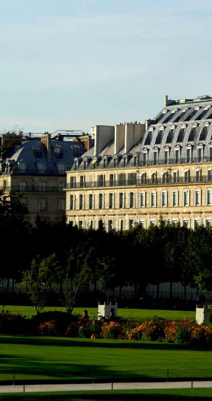 View of Le Meurice's Facade from the Tuileries Garden, Paris