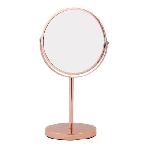 mirror modern rose gold 35cm